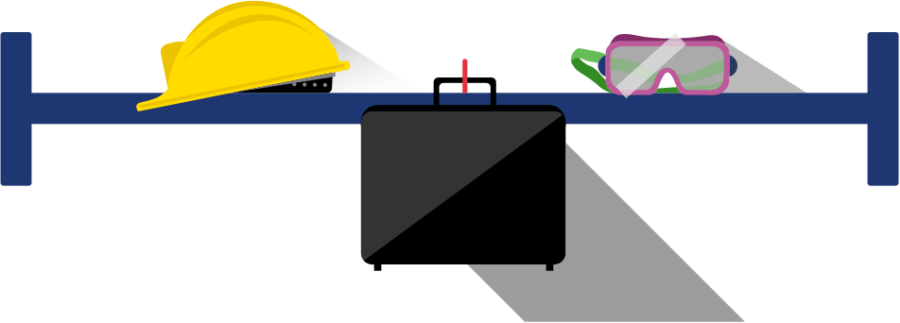 Illustration of construction items