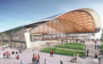 Artists impression of the new high speed rail station at Curzon St.