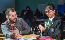 Pupils attend a HS2 secondary education workshop