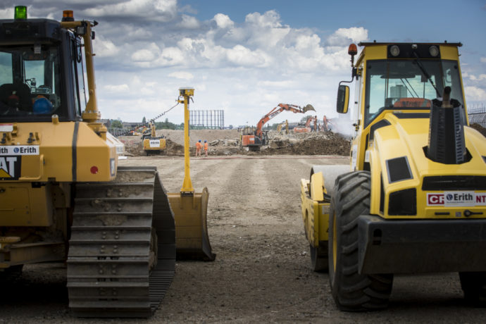 Plant machinery on site
