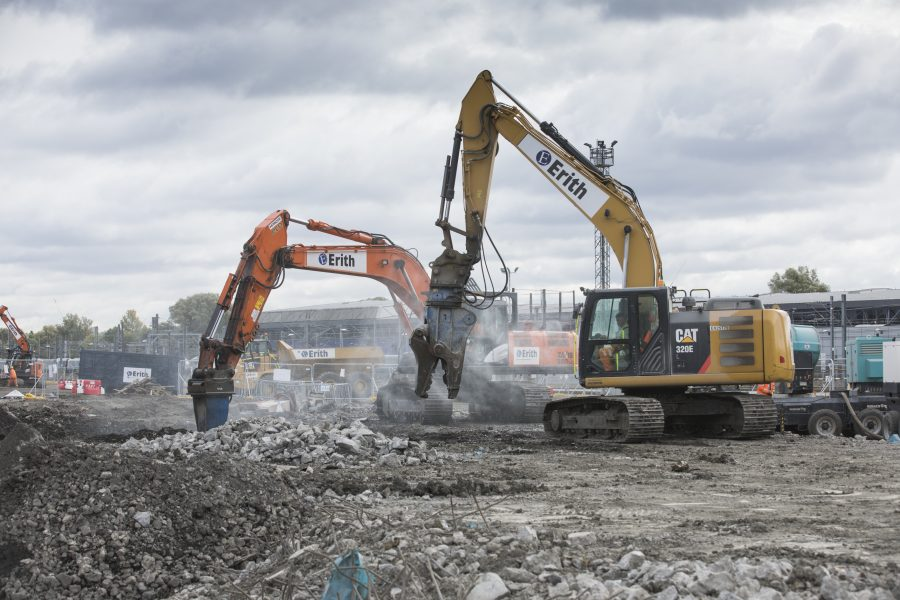 Construction at old oak common