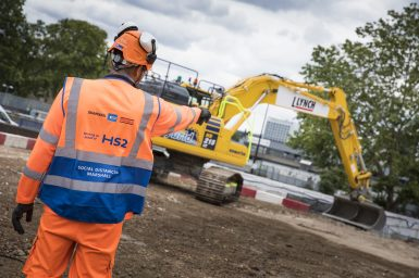 HS2 works in Solihull